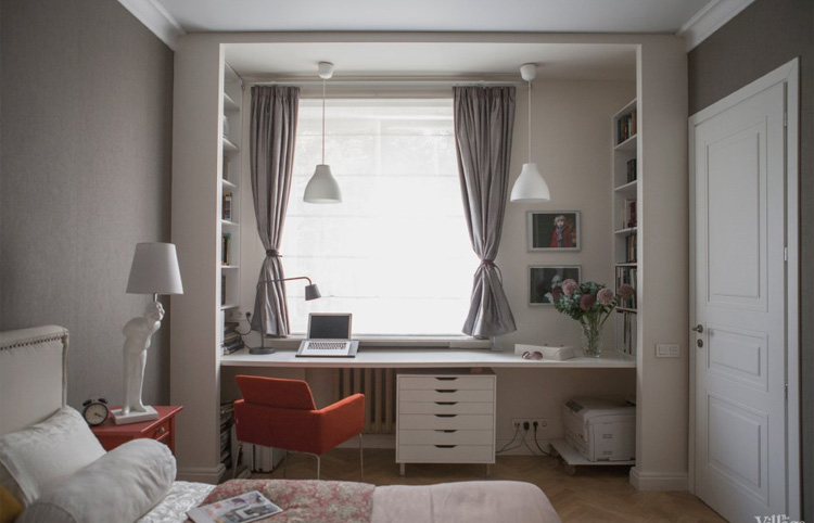 Дизайн комнаты с окнами