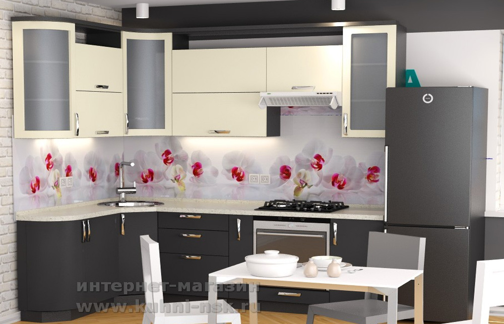 кухонный гарнитур в кухне 9м2 проект