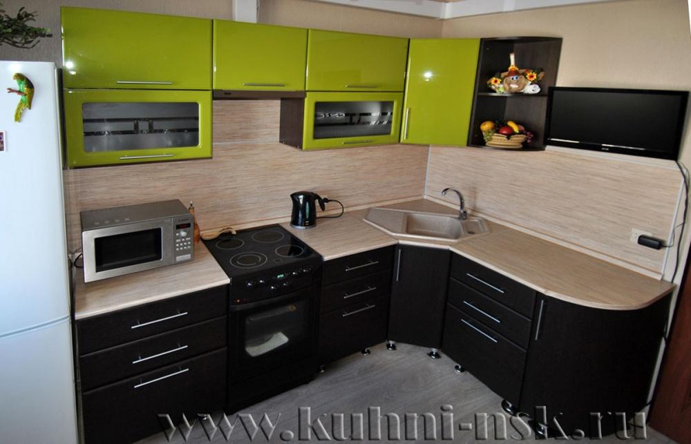 Кухни венге и салатовый фото