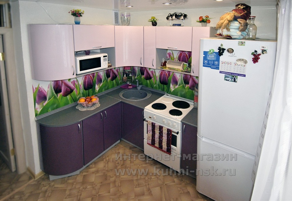 фиолетовые кухни реальные фото в квартирах советы и рекомендации